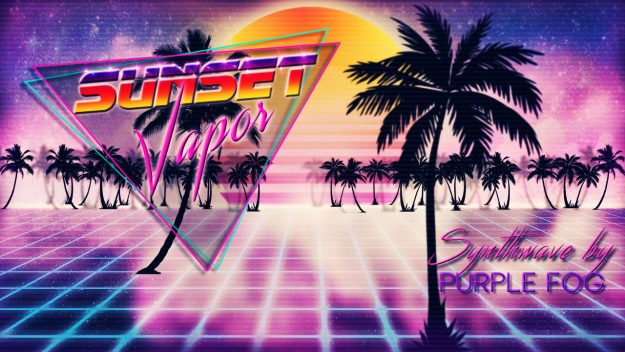 Synthwave music for Media - Sunset Vapor | Purple Fog Music